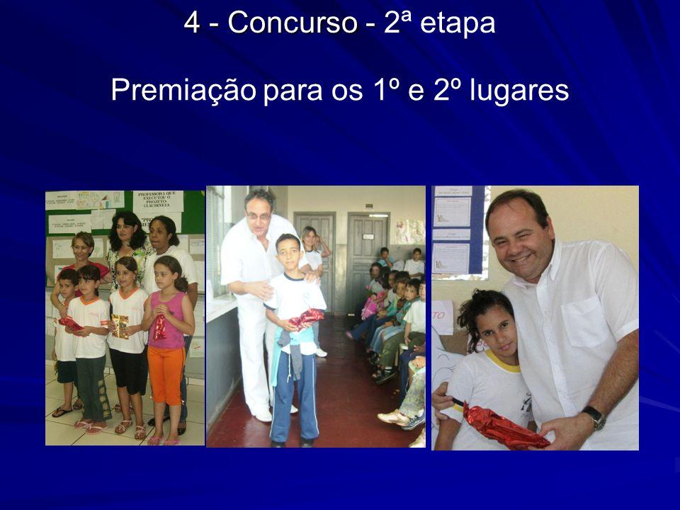 Premiação para os 1º e 2º lugares 4 - Concurso - 4 - Concurso - 2ª etapa