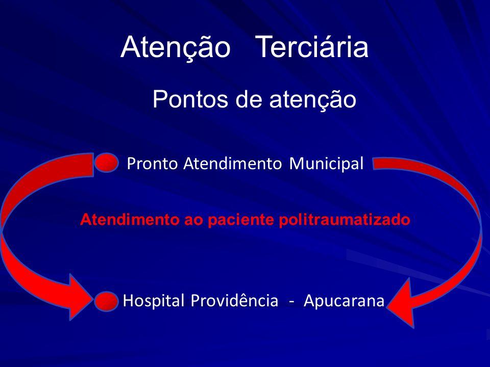 Atenção Terciária Pronto Atendimento Municipal Hospital Providência - Apucarana Atendimento ao paciente politraumatizado Pontos de atenção
