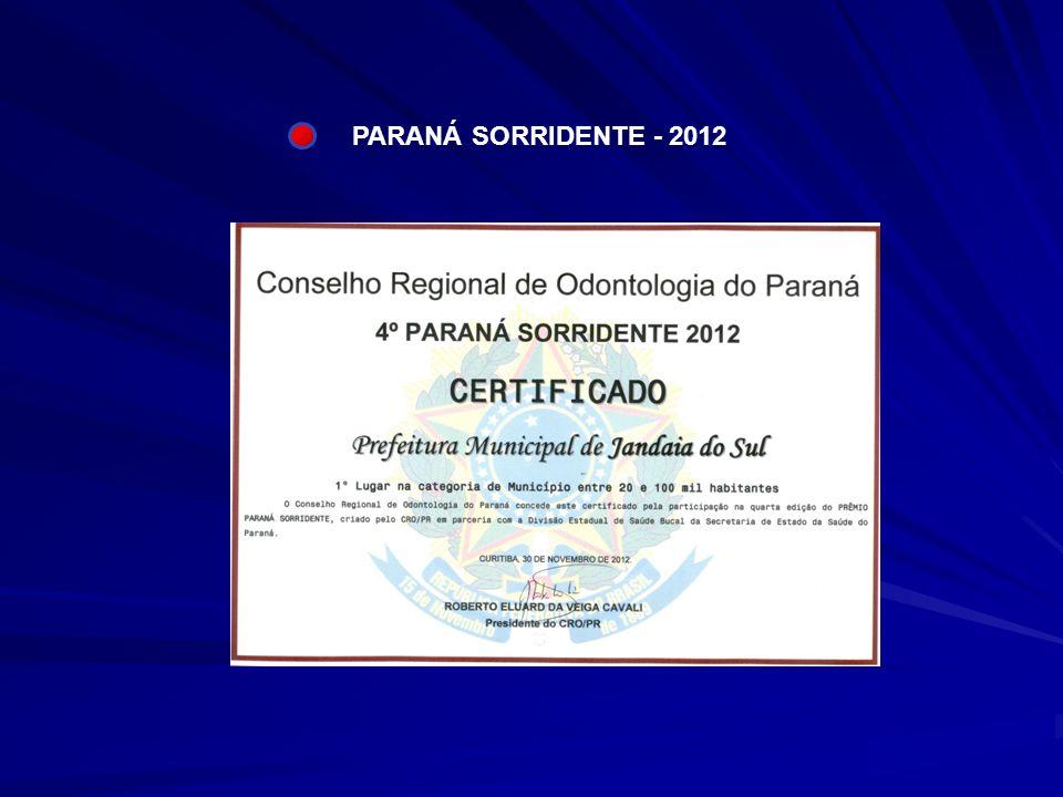PARANÁ SORRIDENTE - 2012