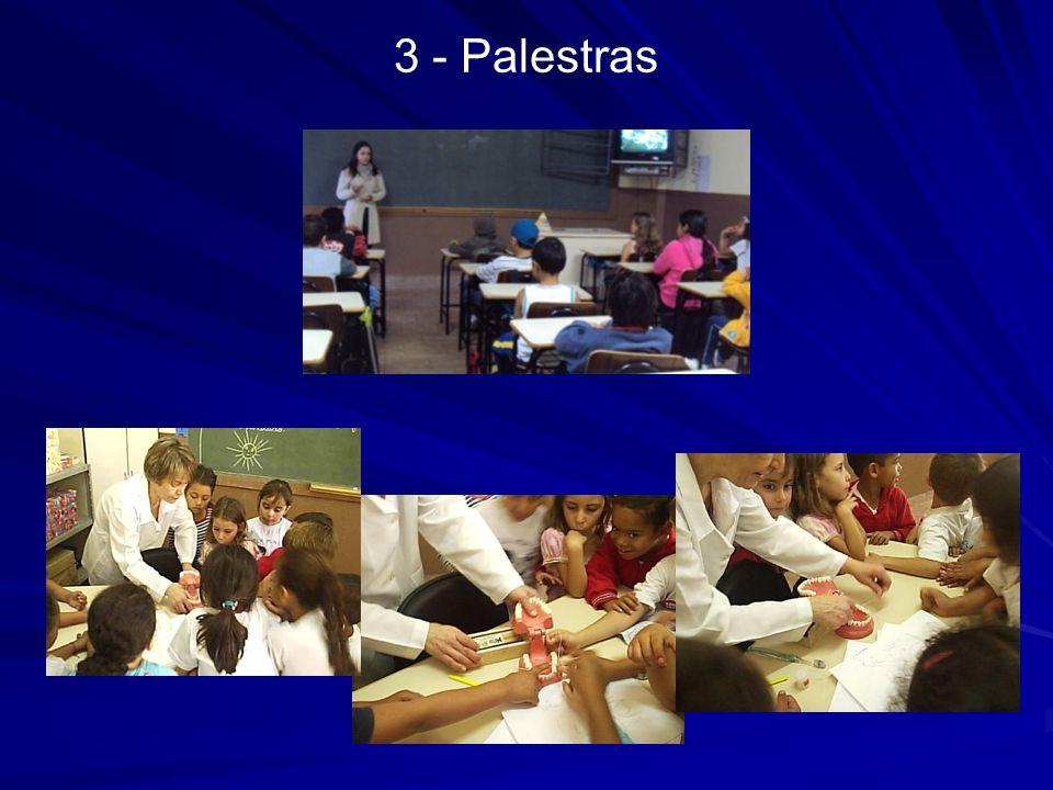 4 - Concurso 1ª ETAPA – Abertura e desenvolvimento de atividades relacionadas à Saúde Bucal, com a participação de todos da Escola Trabalho elaborado e desenvolvido com a união dos Departamento de Saúde e Departamento de Educação, realizado em 2 etapas.