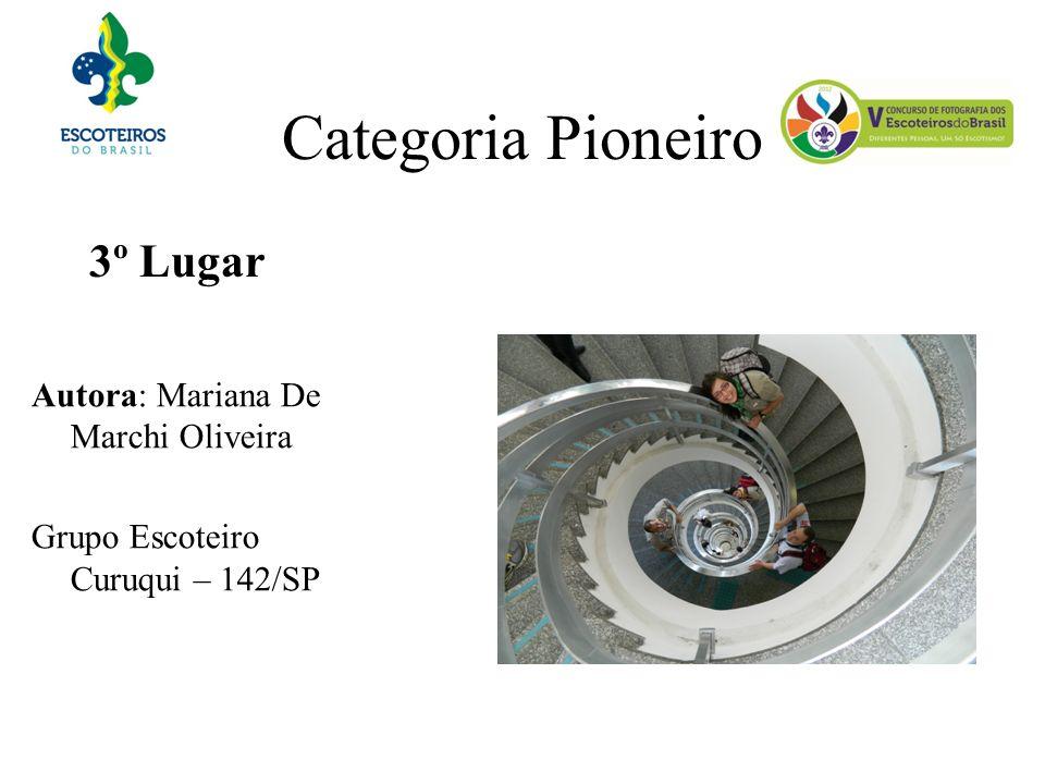 Categoria Pioneiro 3º Lugar Autora: Mariana De Marchi Oliveira Grupo Escoteiro Curuqui – 142/SP
