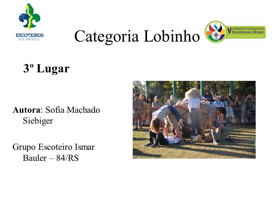 Categoria Lobinho 3º Lugar Autora: Sofia Machado Siebiger Grupo Escoteiro Ismar Bauler – 84/RS