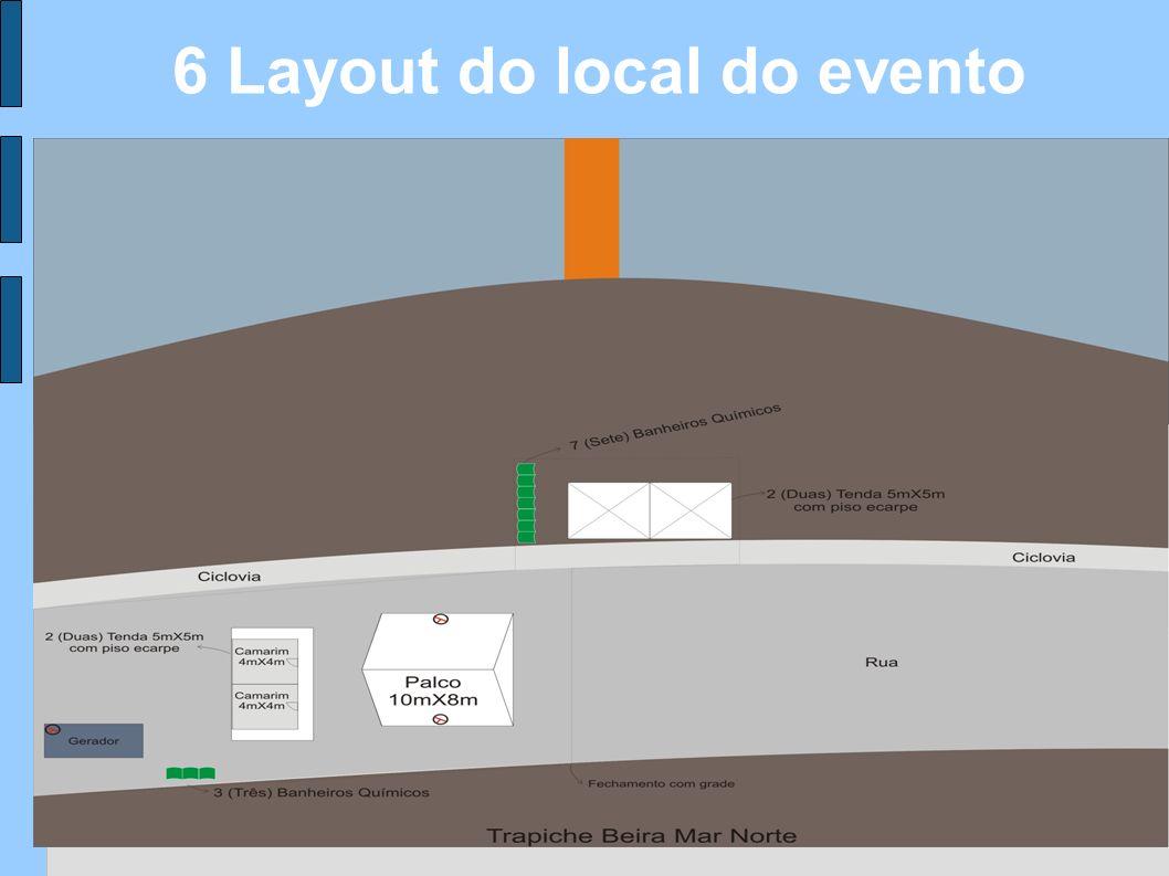 6 Layout do local do evento