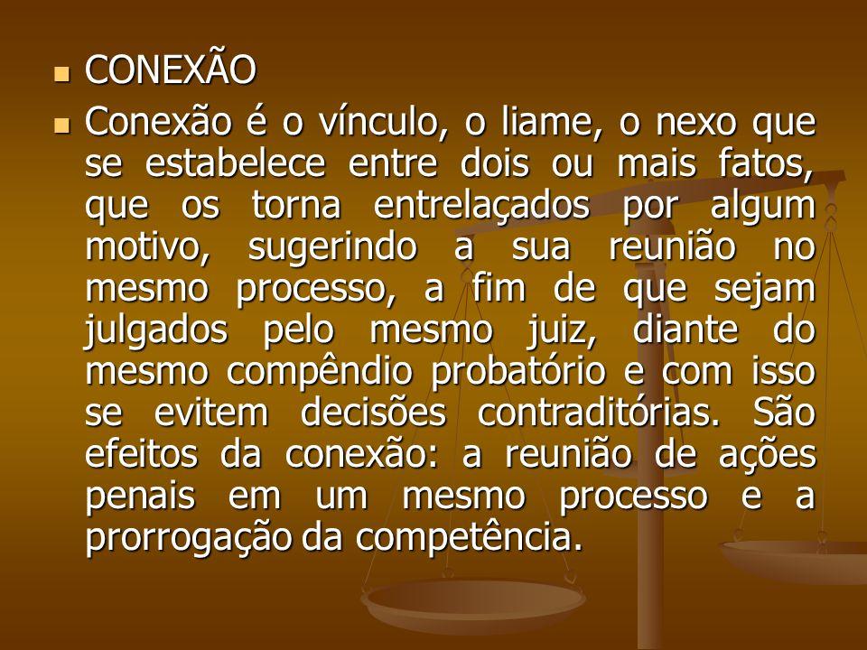 CONEXÃO CONEXÃO Conexão é o vínculo, o liame, o nexo que se estabelece entre dois ou mais fatos, que os torna entrelaçados por algum motivo, sugerindo