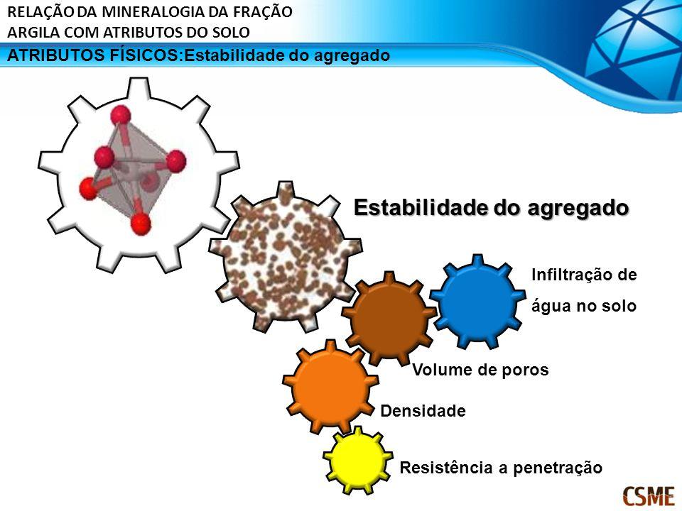 ATRIBUTOS FÍSICOS:Estabilidade do agregado Estabilidade do agregado Resistência a penetração Volume de poros Densidade Infiltração de água no solo REL