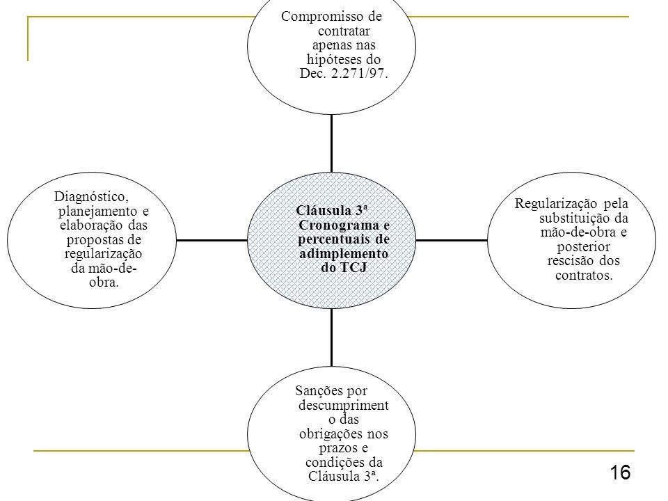 16 Diagnóstico, planejamento e elaboração das propostas de regularização da mão-de- obra.