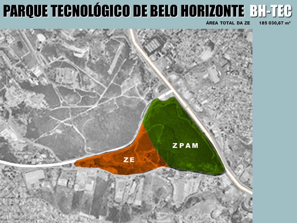 PARQUE TECNOLÓGICO DE BELO HORIZONTE BH-TEC ÁREA TOTAL DA ZE 185 030,67 m²