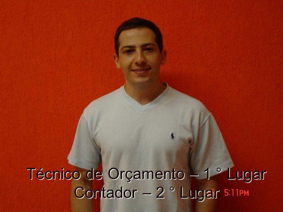 Técnico de Orçamento – 1 ° Lugar Contador – 2 ° Lugar