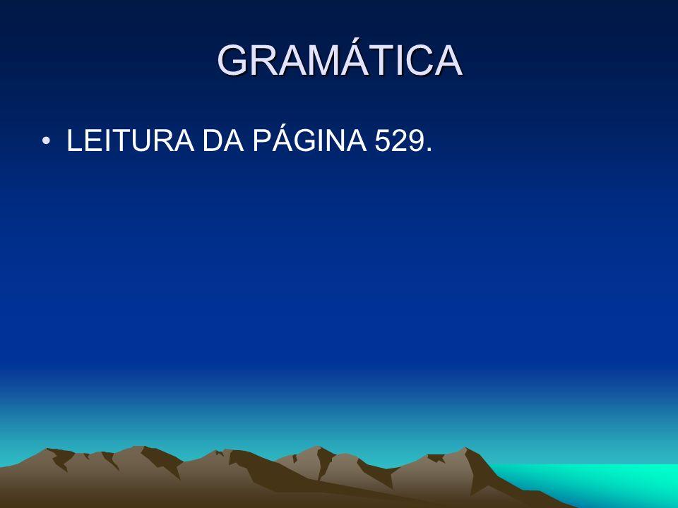 GRAMÁTICA LEITURA DA PÁGINA 529.