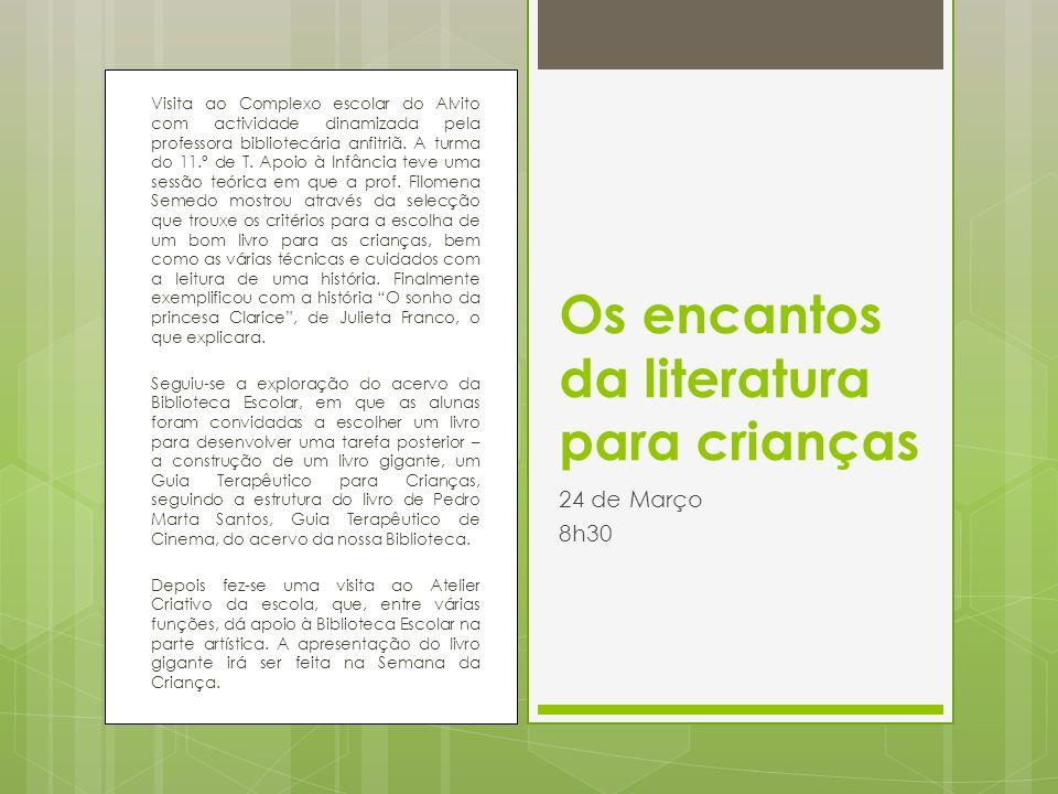 Visita ao Complexo escolar do Alvito com actividade dinamizada pela professora bibliotecária anfitriã. A turma do 11.º de T. Apoio à Infância teve uma