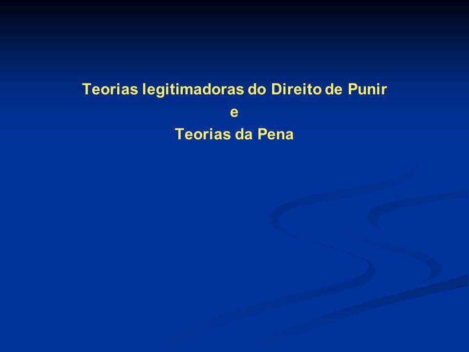 Teorias legitimadoras do Direito de Punir e Teorias da Pena