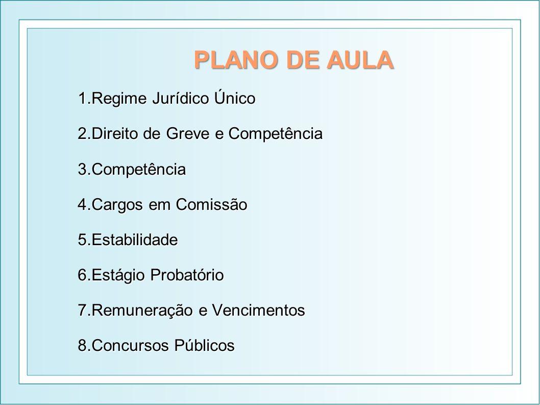REGIME JURÍDICO ÚNICO Redação original do art.39, caput, CF: Art.