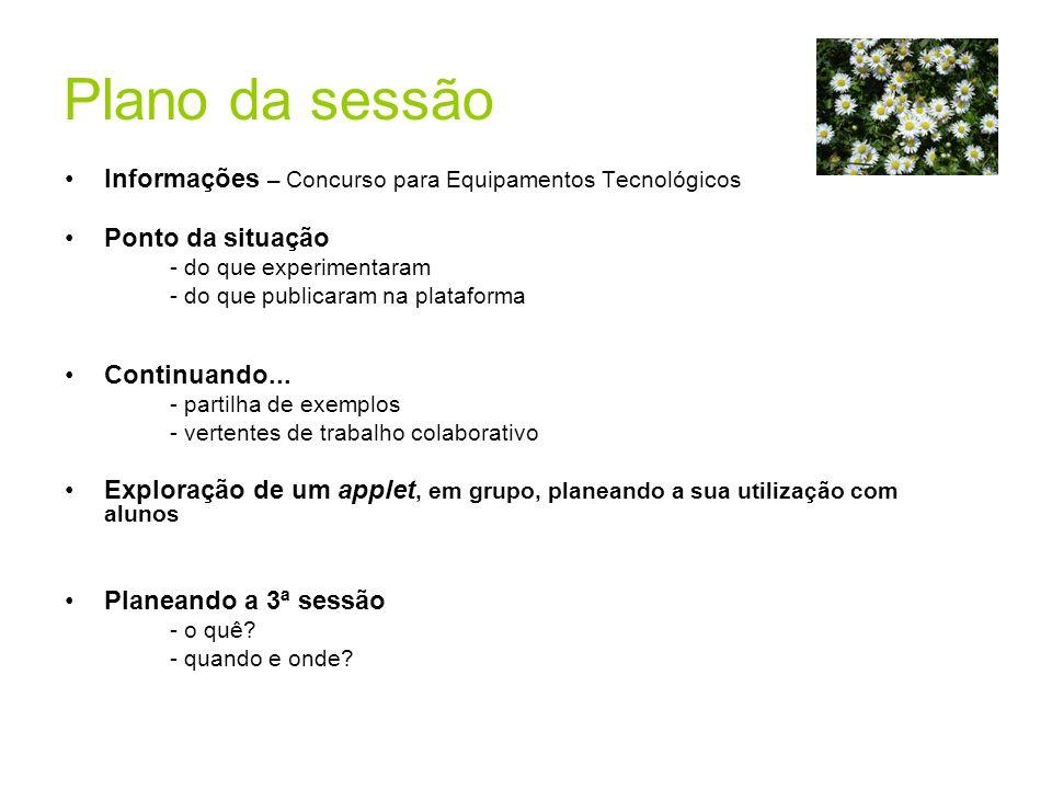 Informações Concurso para equipamentos tecnológicos -prazo de candidatura: 14 a 31 de Maio - mais informações em http://www.dgidc.min-edu.pt/
