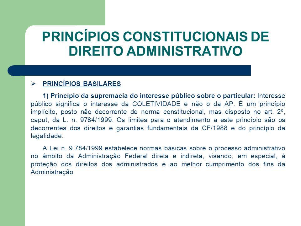 PRINCÍPIOS CONSTITUCIONAIS DE DIREITO ADMINISTRATIVO Art.