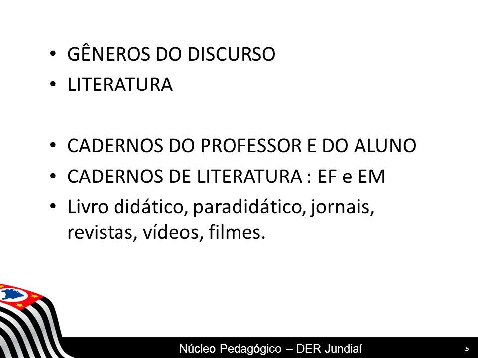SECRETARIA DA EDUCAÇÃO Coordenadoria de Gestão da Educação Básica GÊNEROS DO DISCURSO LITERATURA CADERNOS DO PROFESSOR E DO ALUNO CADERNOS DE LITERATU