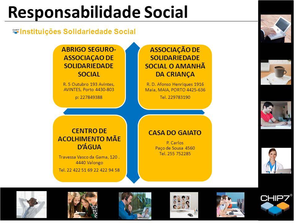 ABRIGO SEGURO- ASSOCIAÇAO DE SOLIDARIEDADE SOCIAL R. 5 Outubro 193 Avintes, AVINTES, Porto 4430-803 p: 227849388 ASSOCIAÇÃO DE SOLIDARIEDADE SOCIAL O
