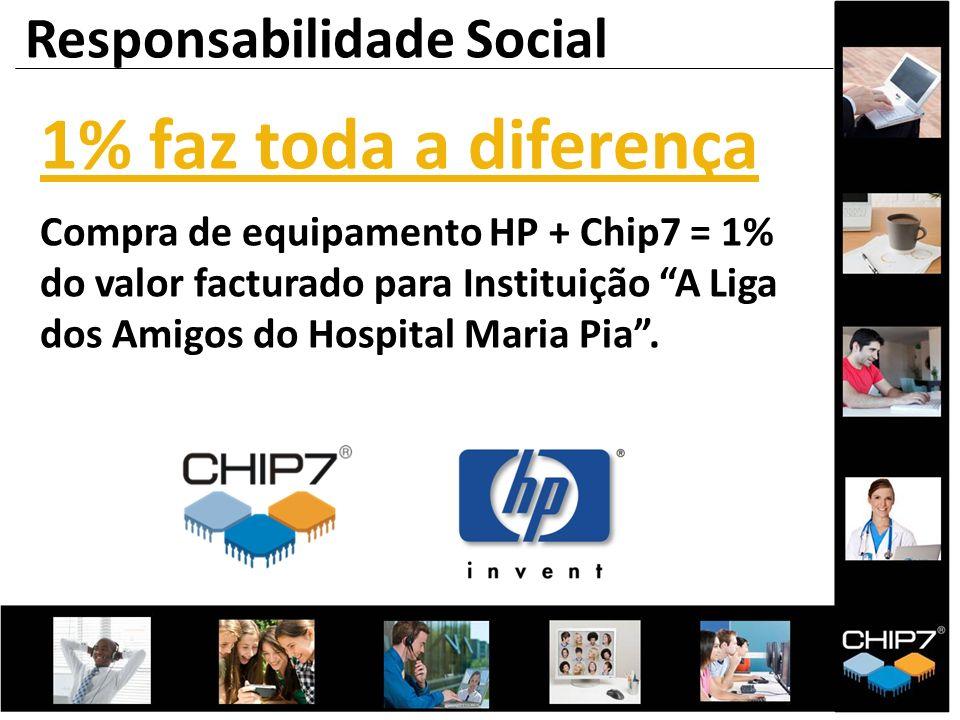 1% faz toda a diferença Compra de equipamento HP + Chip7 = 1% do valor facturado para Instituição A Liga dos Amigos do Hospital Maria Pia. Responsabil