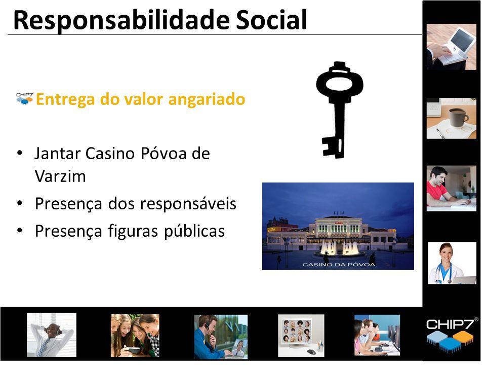 Entrega do valor angariado Jantar Casino Póvoa de Varzim Presença dos responsáveis Presença figuras públicas Responsabilidade Social