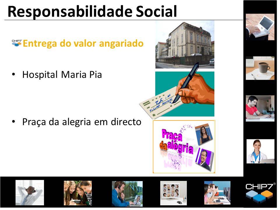 Entrega do valor angariado Hospital Maria Pia Praça da alegria em directo Responsabilidade Social