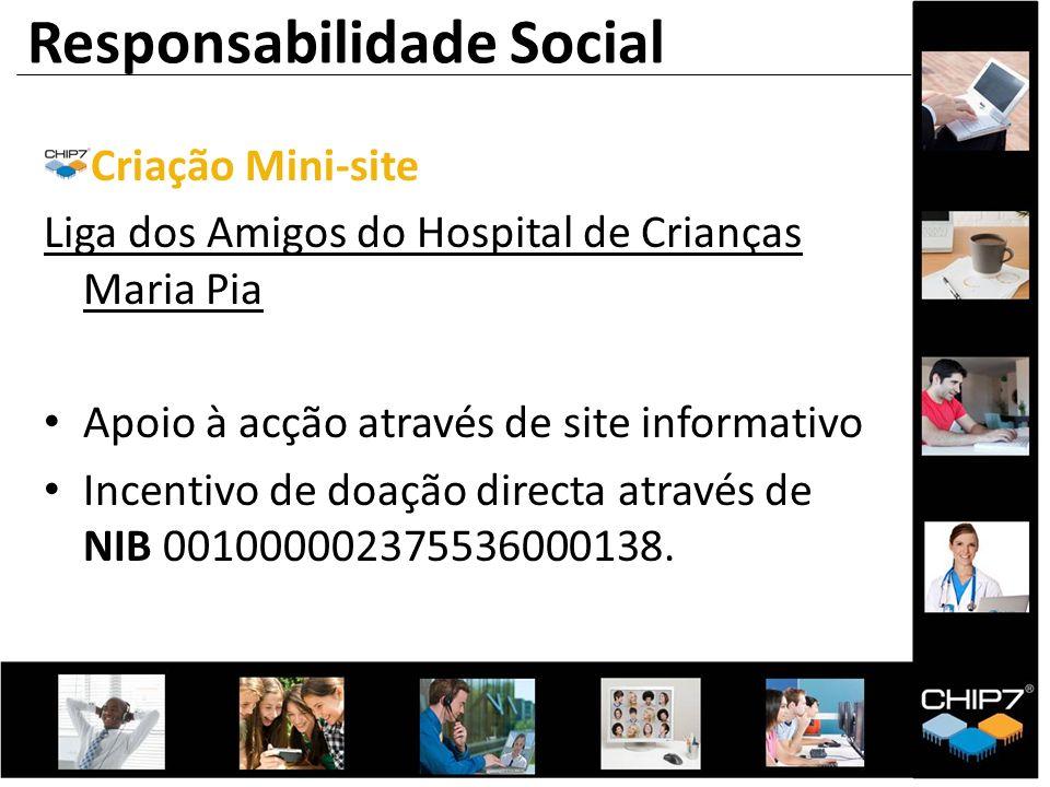 Criação Mini-site Liga dos Amigos do Hospital de Crianças Maria Pia Apoio à acção através de site informativo Incentivo de doação directa através de N