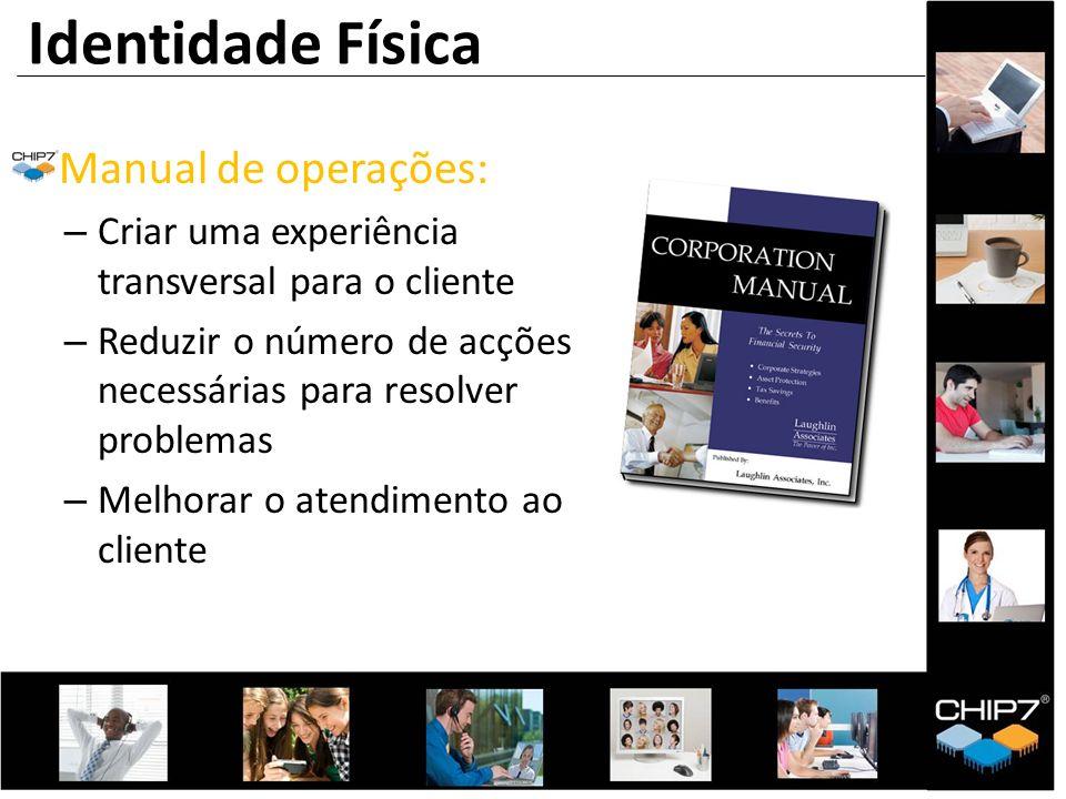 Manual de operações: – Criar uma experiência transversal para o cliente – Reduzir o número de acções necessárias para resolver problemas – Melhorar o