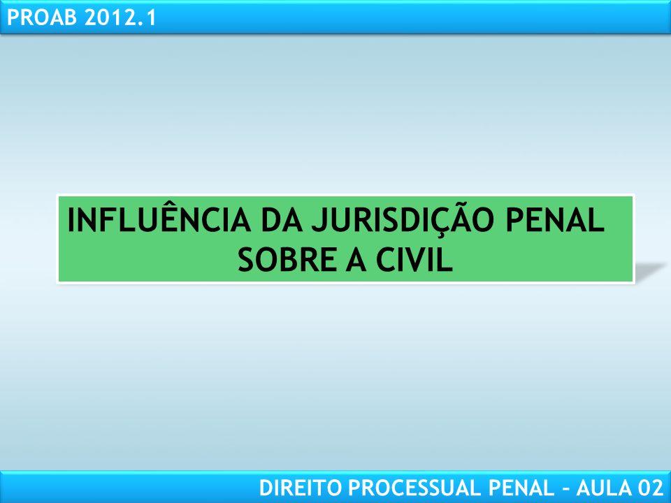 RESPONSABILIDADE CIVIL AULA 1 PROAB 2012.1 DIREITO PROCESSUAL PENAL – AULA 02 DA COMPETÊNCIA PELO DOMICÍLIO OU RESIDÊNCIA DO RÉU.