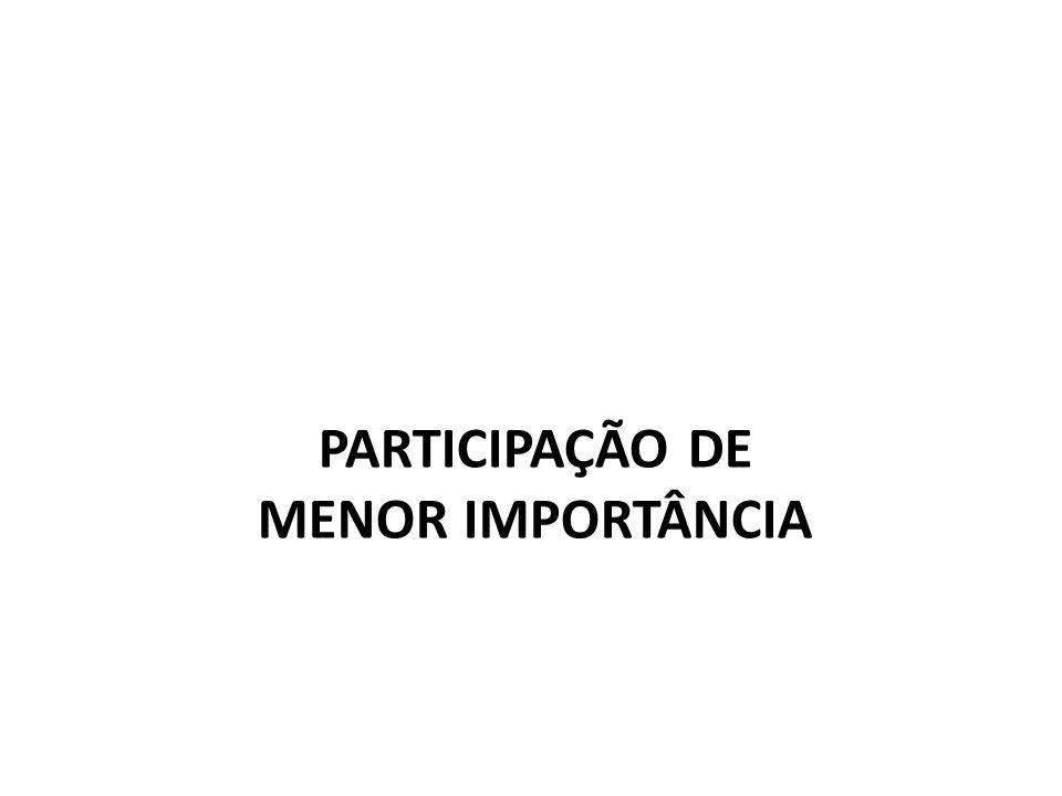 PARTICIPAÇÃO DE MENOR IMPORTÂNCIA