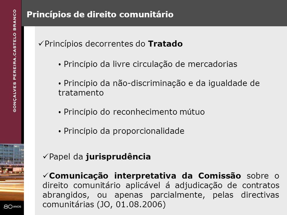 Critério da entidade adjudicante (art.