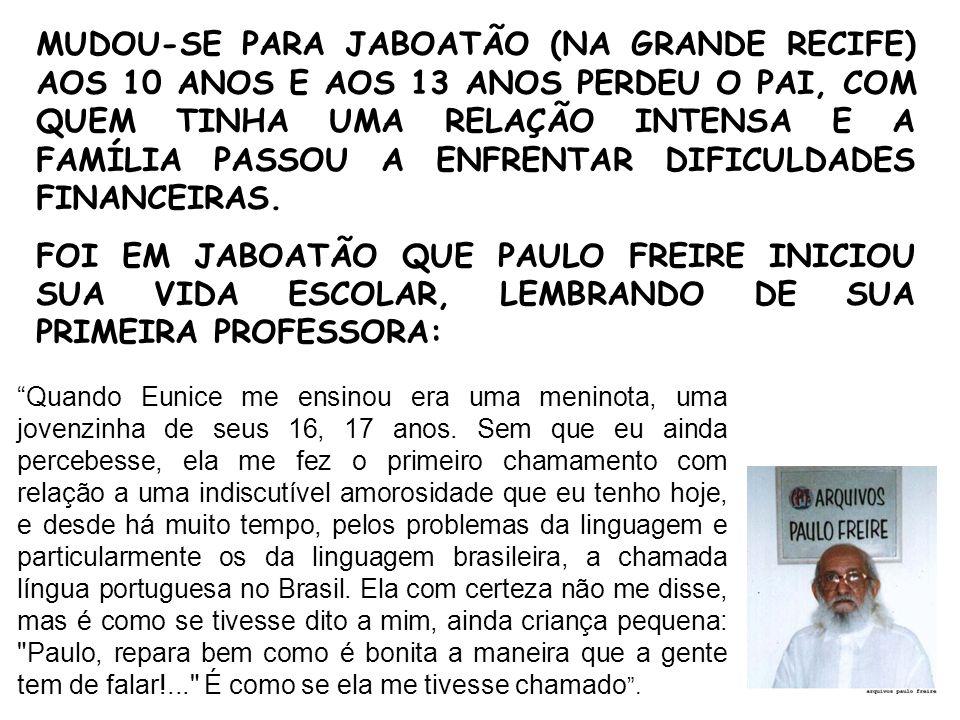 Ms. Andréia Dalcin PAULO FREIRE E A EDUCAÇÃO MATEMÁTICA