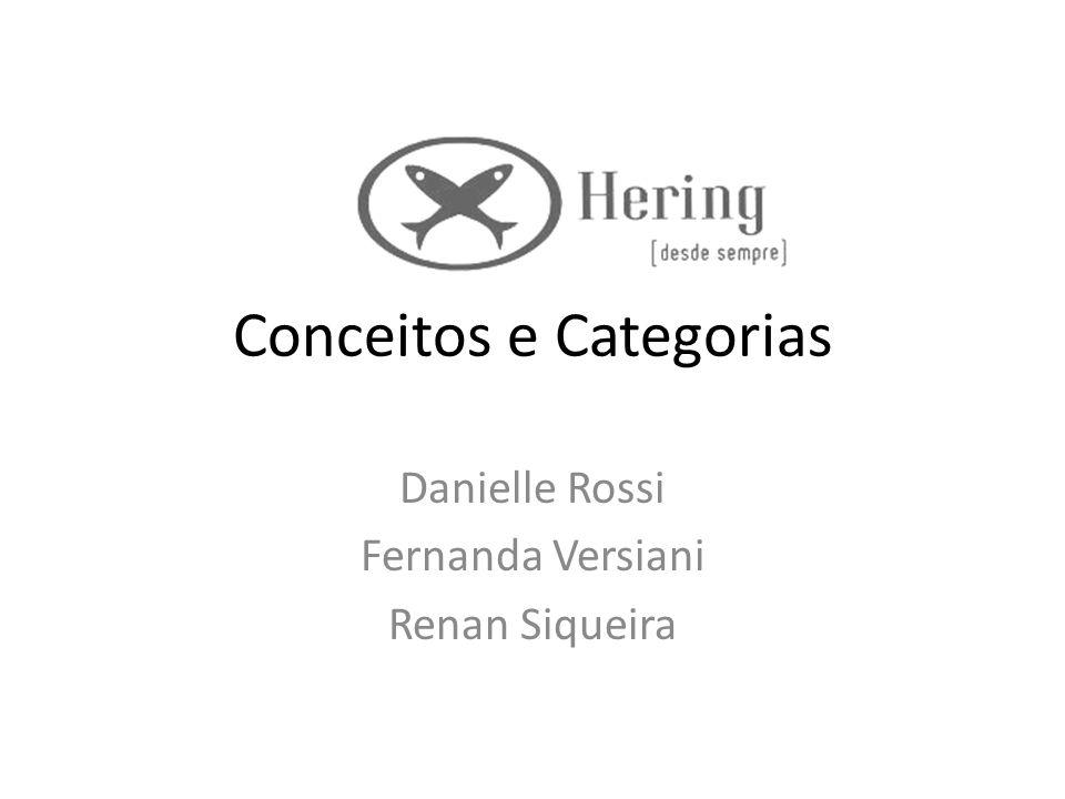 Conceitos e Categorias Danielle Rossi Fernanda Versiani Renan Siqueira