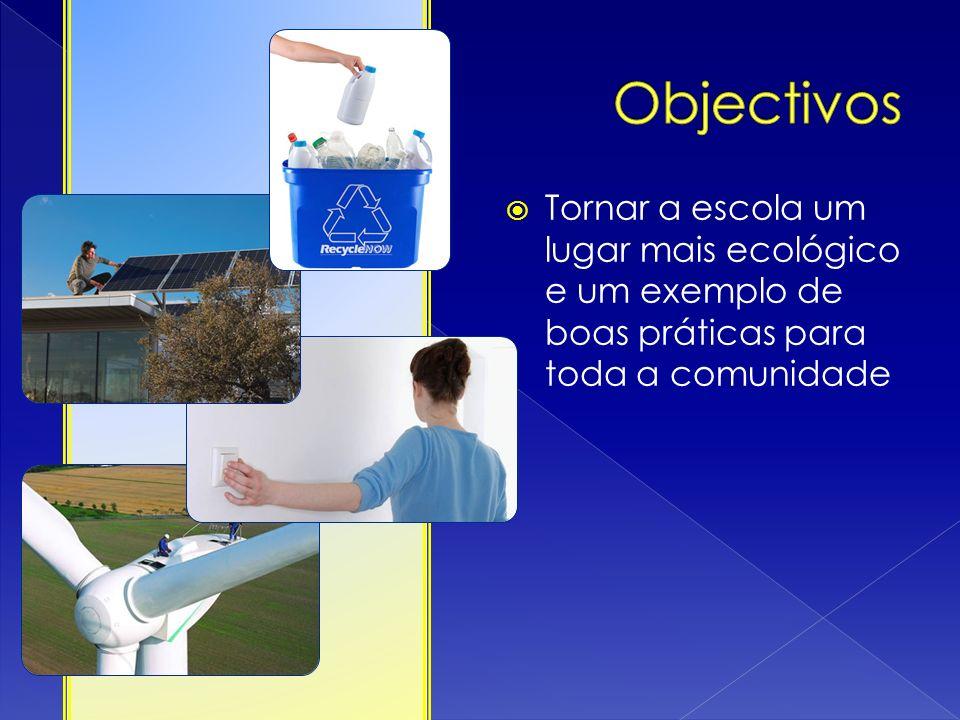 Tornar a escola um lugar mais ecológico e um exemplo de boas práticas para toda a comunidade