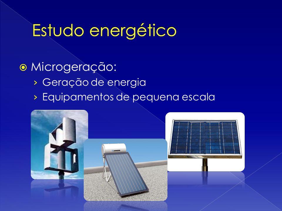 Microgeração: Geração de energia Equipamentos de pequena escala