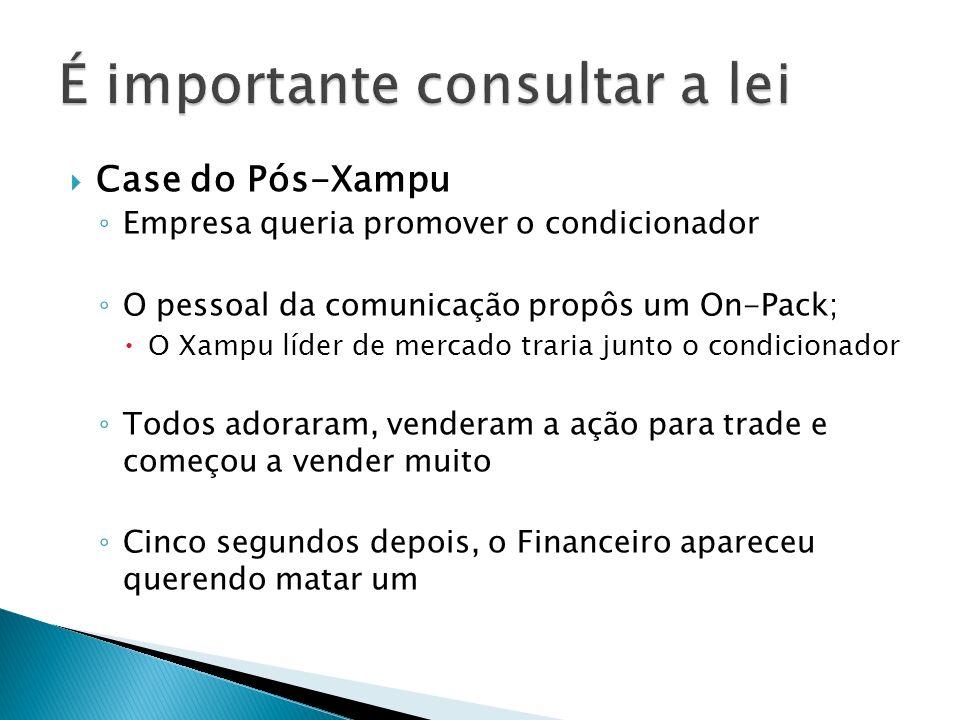 Case do Pós-Xampu Empresa queria promover o condicionador O pessoal da comunicação propôs um On-Pack; O Xampu líder de mercado traria junto o condicio