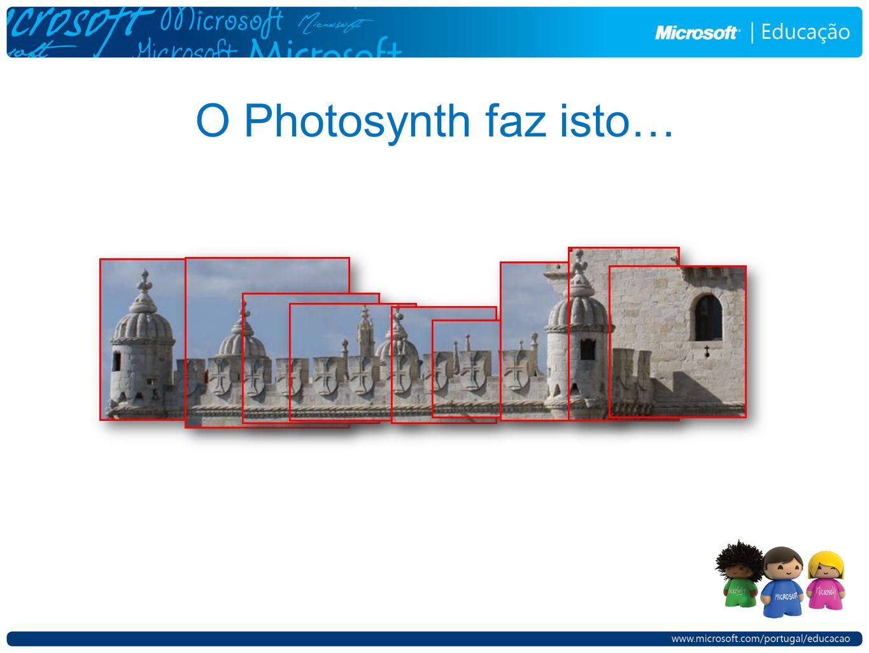 O Photosynth faz isto…