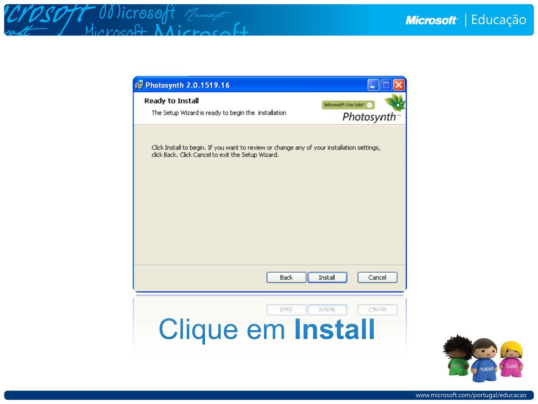 Clique em Install