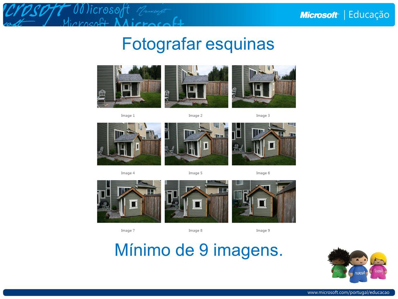 Fotografar esquinas Mínimo de 9 imagens.