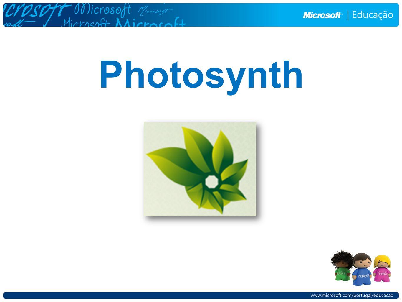 Menus do Photosynth Dados do synth.O botão Rename permite renomear o synth, Dados do synth.