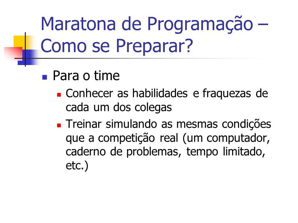Maratona de Programação – Como se Preparar.