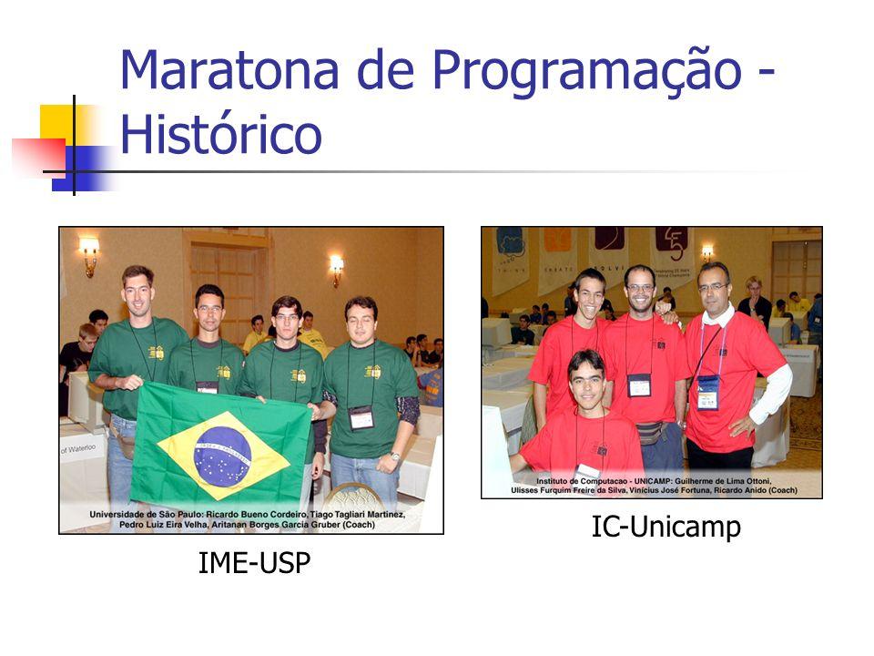 Maratona de Programação - Histórico IME-USP IC-Unicamp
