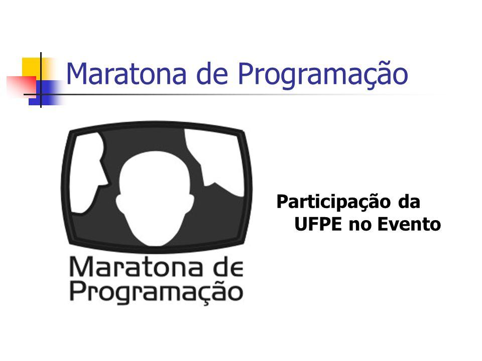 Maratona de Programação Participação da UFPE no Evento