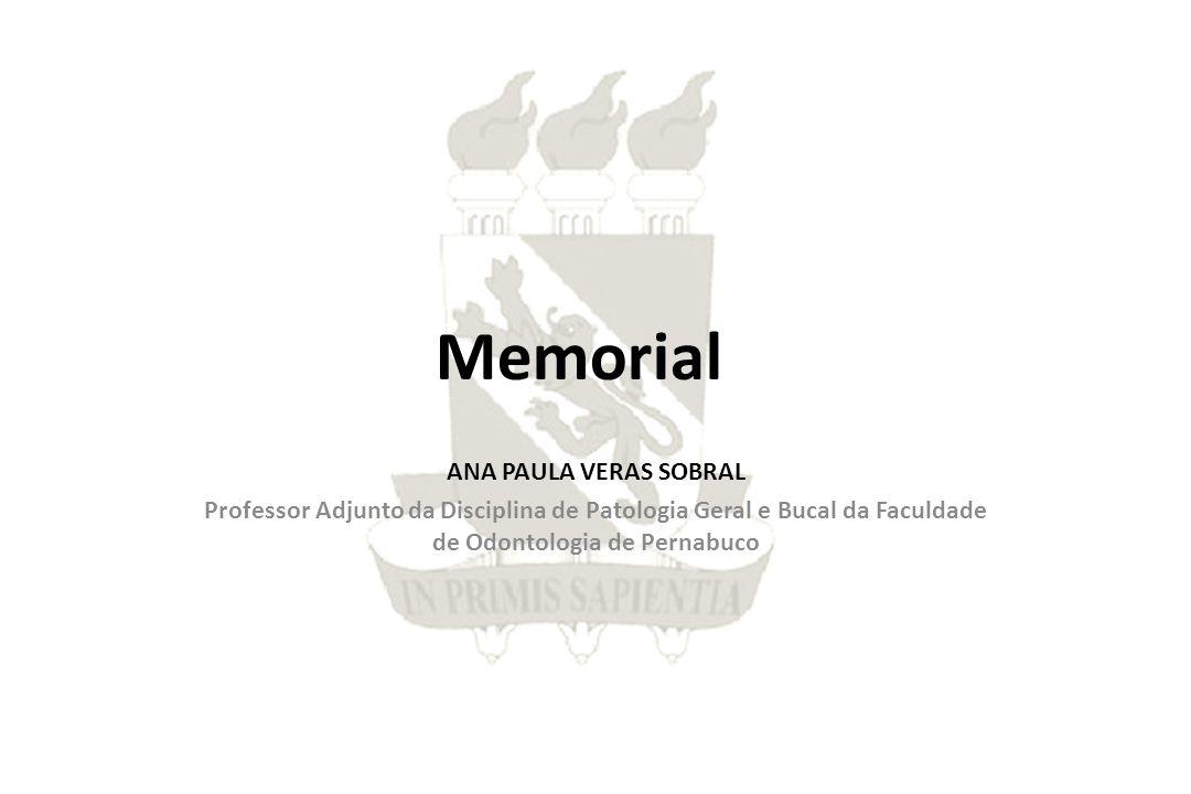 Memorial apresentado à Universidade de Pernambuco com vista à promoção ao cargo de Professor Associado