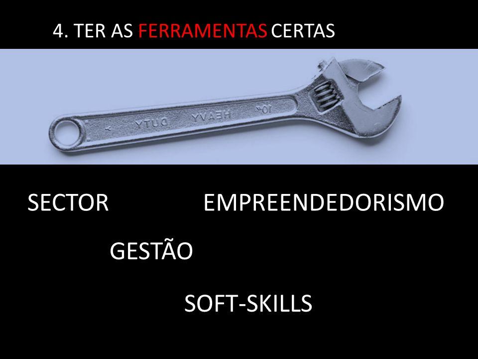 4. TER AS FERRAMENTAS CERTAS SECTOR GESTÃO EMPREENDEDORISMO SOFT-SKILLS