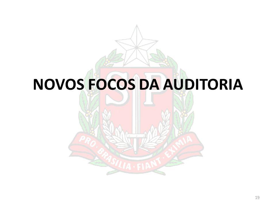 NOVOS FOCOS DA AUDITORIA 19