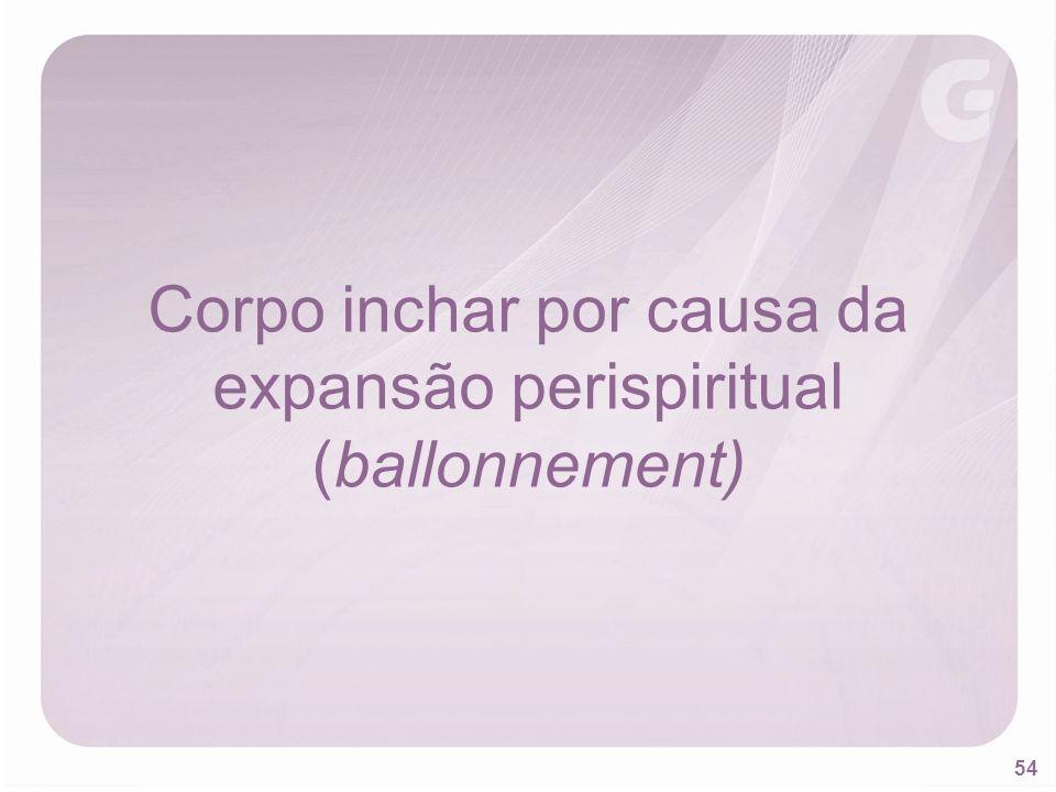 54 Corpo inchar por causa da expansão perispiritual (ballonnement)
