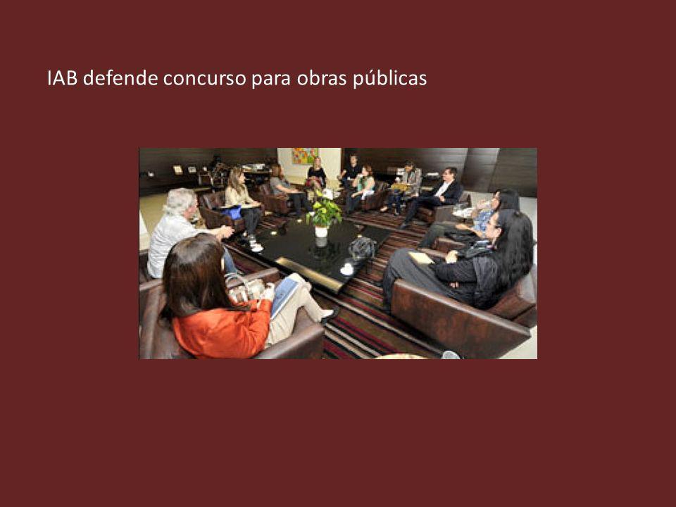 IAB defende concurso para obras públicas