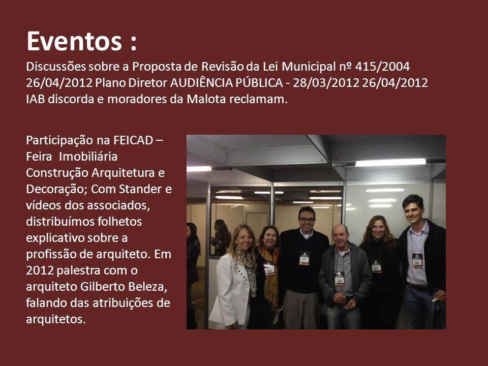 Em 2013 palestra com o Presidente do Aglomerado Urbano Sr.