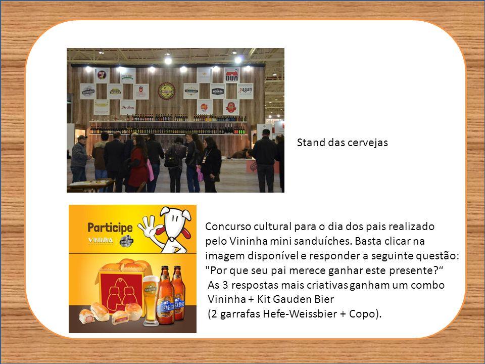 Stand das cervejas Concurso cultural para o dia dos pais realizado pelo Vininha mini sanduíches. Basta clicar na imagem disponível e responder a segui