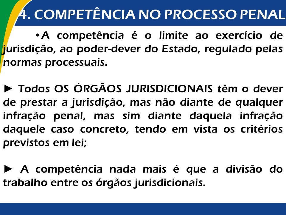 A competência é o limite ao exercício de jurisdição, ao poder-dever do Estado, regulado pelas normas processuais. Todos OS ÓRGÃOS JURISDICIONAIS têm o