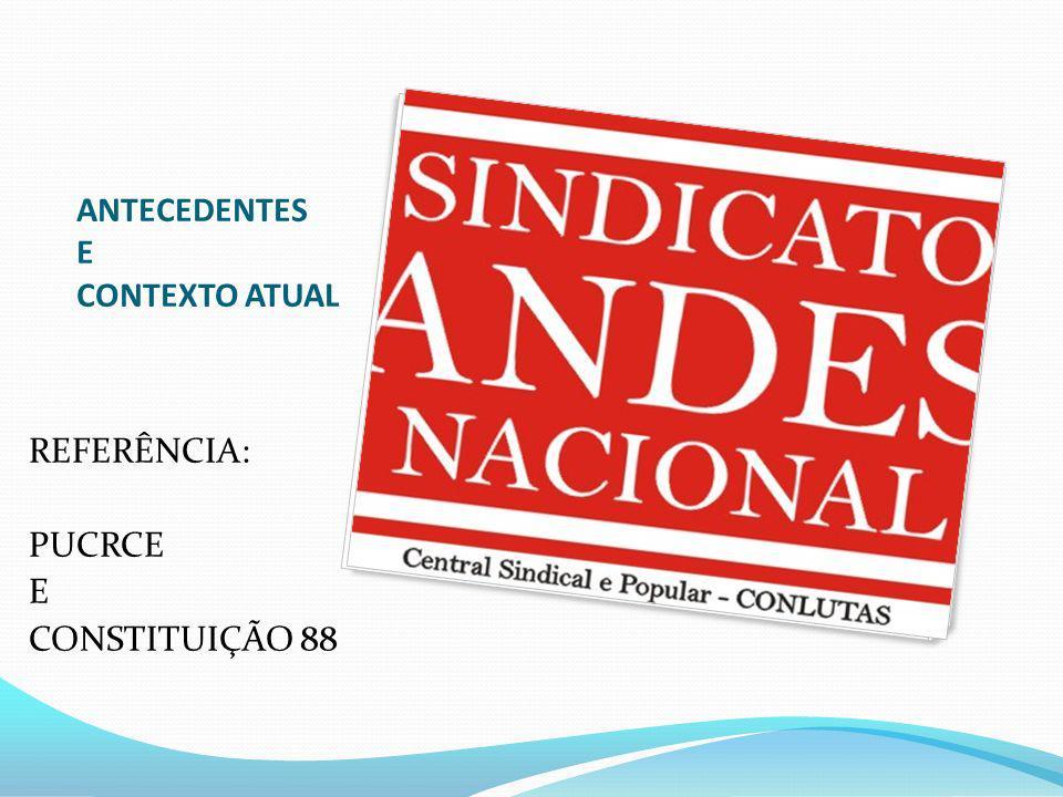 ANTECEDENTES E CONTEXTO ATUAL REFERÊNCIA: PUCRCE E CONSTITUIÇÃO 88
