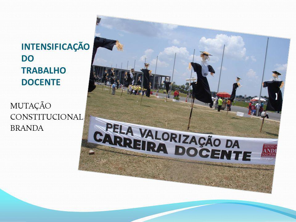 INTENSIFICAÇÃO DO TRABALHO DOCENTE MUTAÇÃO CONSTITUCIONAL BRANDA